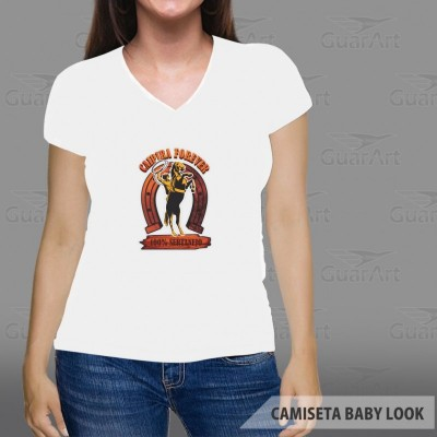Camiseta Baby Look 100% Poliester Gola V Exclusiva Personalizada d06f1cb21e6