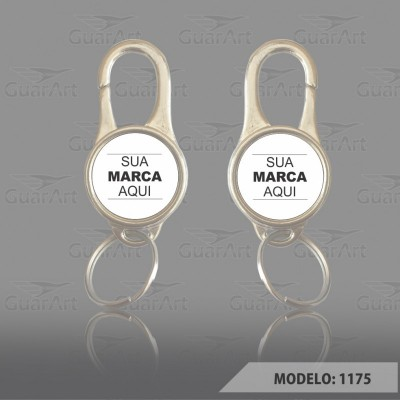 Chaveiro 2 faces Exclusivo Personalizado modelo 1175